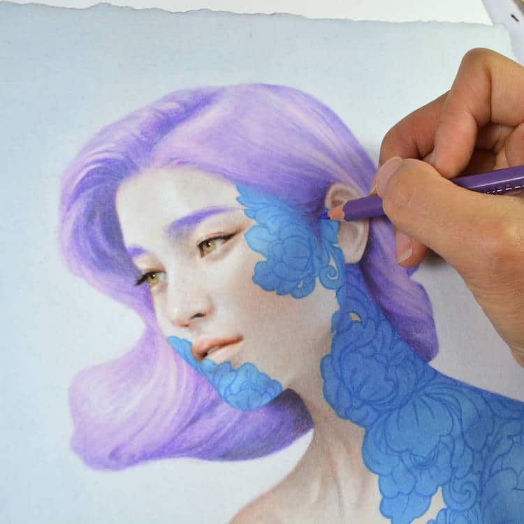 fairytale colored pencil drawings tran nguyen 15