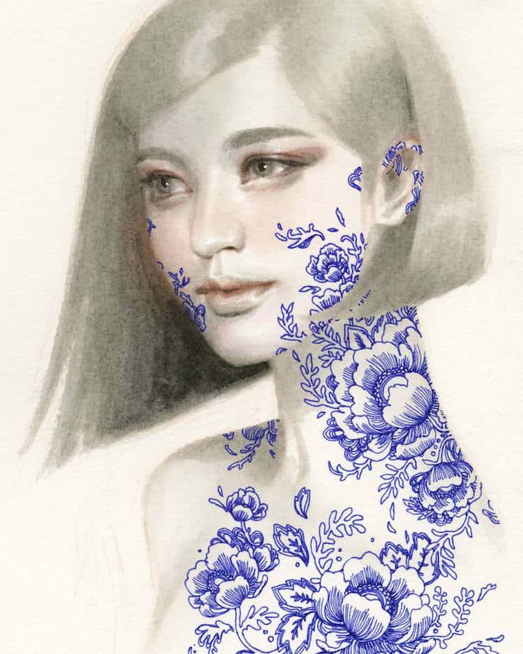 fairytale colored pencil drawings tran nguyen 7