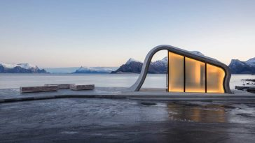 haugen zohar arkitekter hza wave shaped toilet facility norwegian scenic route 1