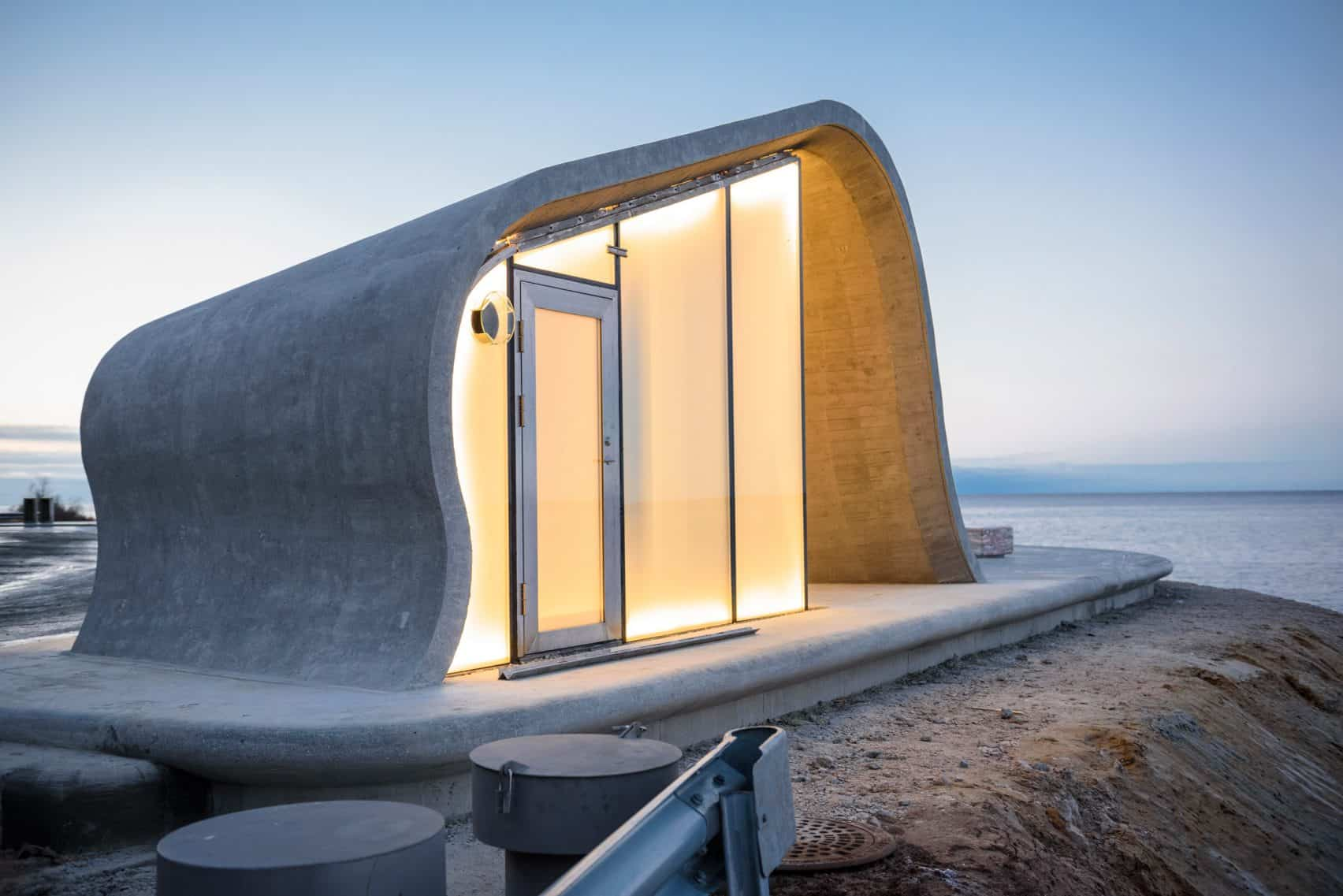 haugen zohar arkitekter hza wave shaped toilet facility norwegian scenic route 12