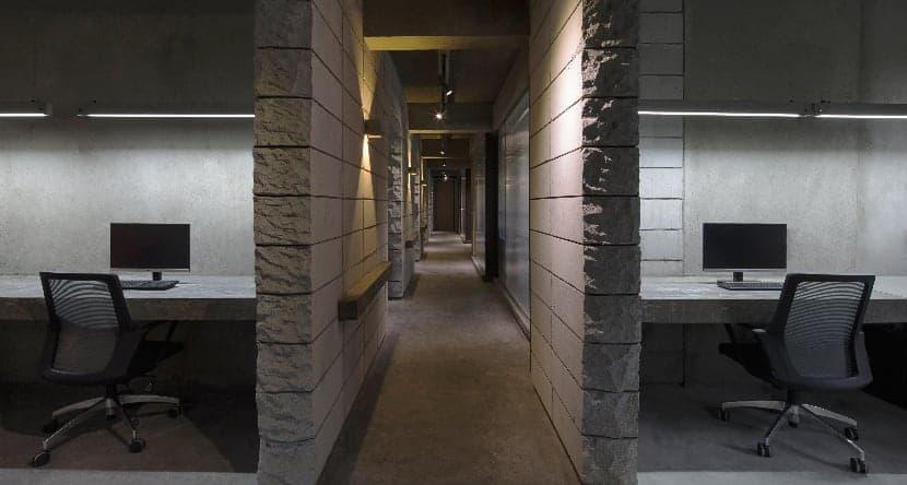 infinite nide bamboo concrete office changsha 4