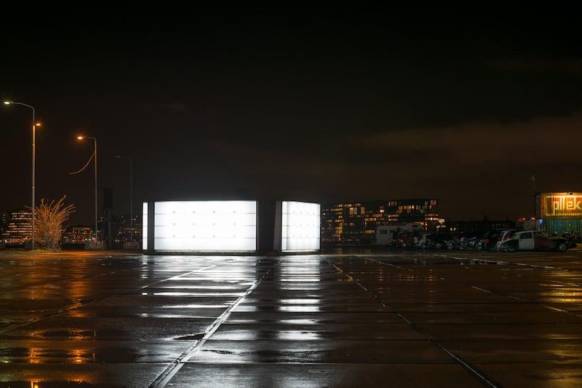 light installation polylester amsterdam ndsm wharf 2