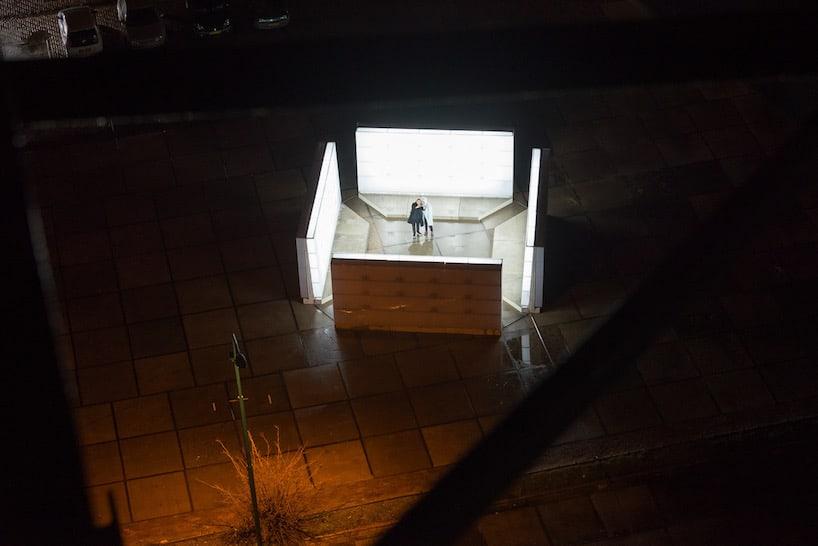 light installation polylester amsterdam ndsm wharf 5