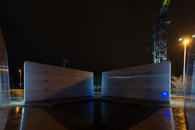 light installation polylester amsterdam ndsm wharf 7