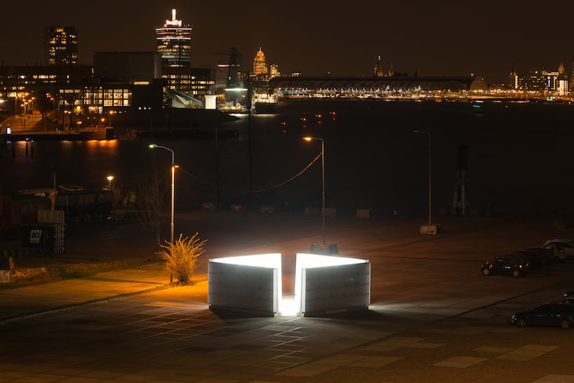 light installation polylester amsterdam ndsm wharf 8