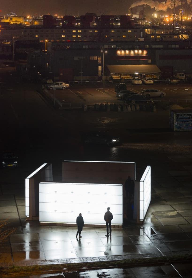 light installation polylester amsterdam ndsm wharf 9