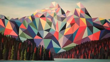 polygon art landscape elyse dodge 1