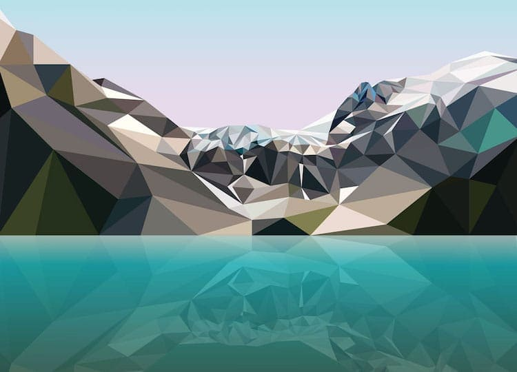 polygon art landscape elyse dodge 10