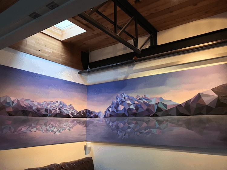 polygon art landscape elyse dodge 12