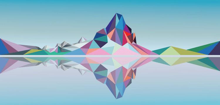 polygon art landscape elyse dodge 13