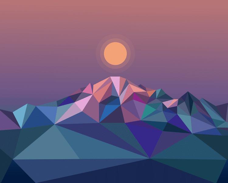 polygon art landscape elyse dodge 3
