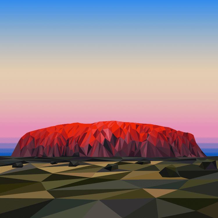 polygon art landscape elyse dodge 5