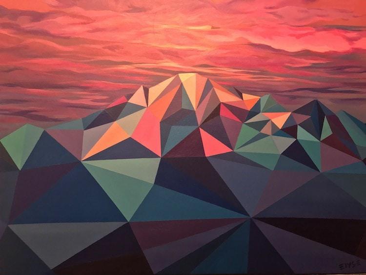 polygon art landscape elyse dodge 6