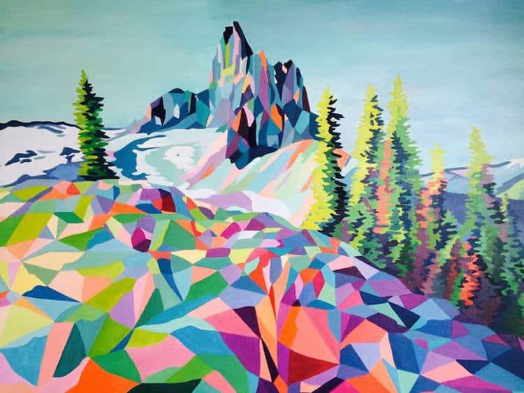 polygon art landscape elyse dodge 8