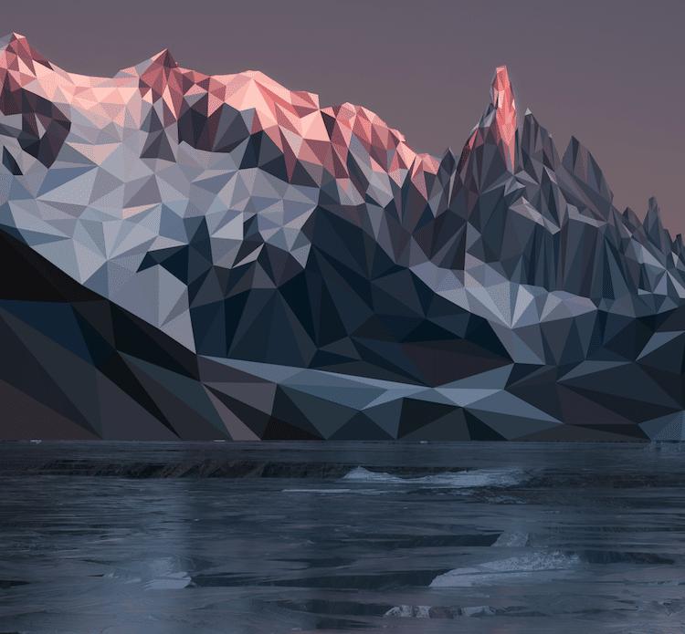 polygon art landscape elyse dodge 9