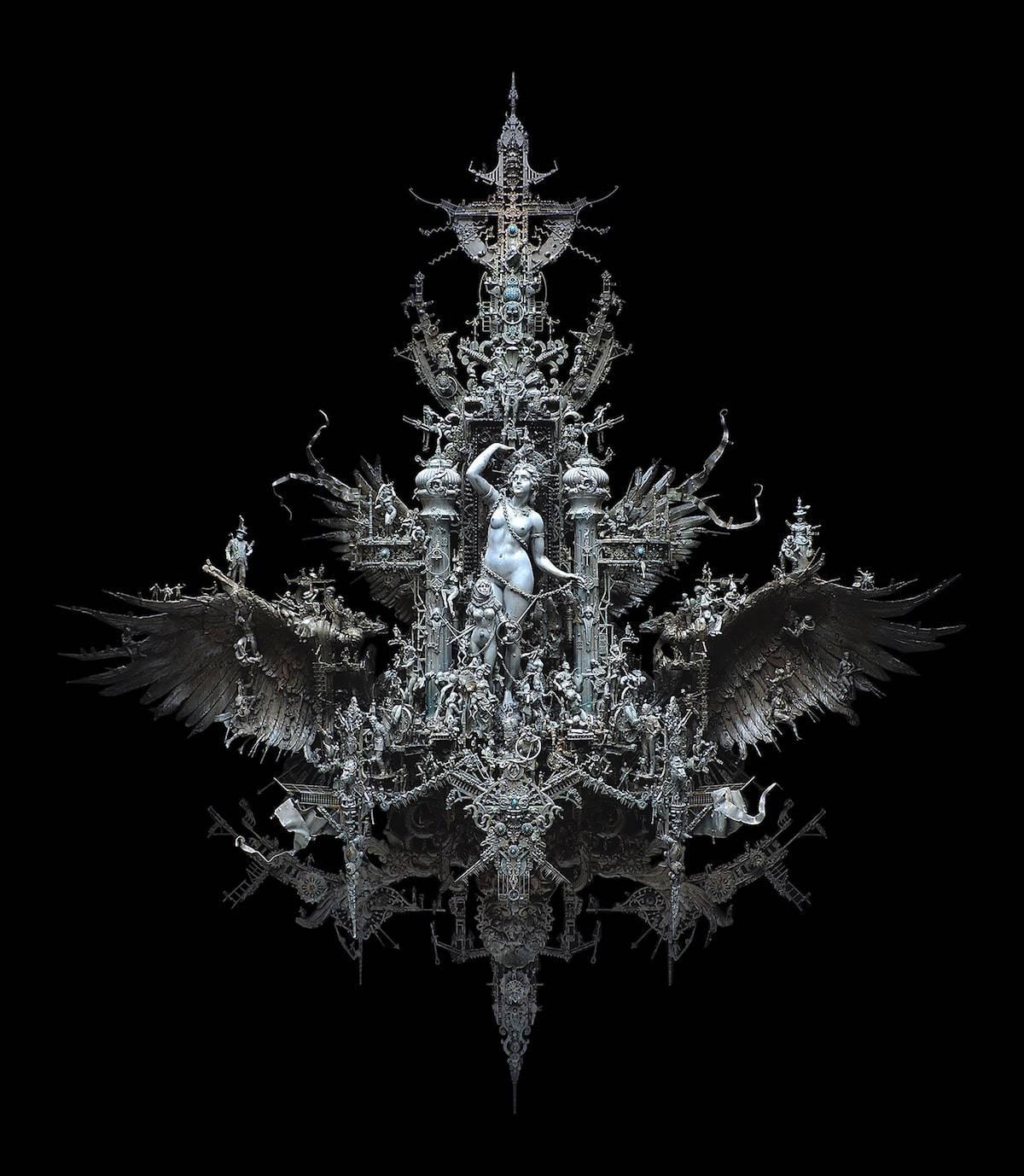 kris kuksi assemblage sculpture 1
