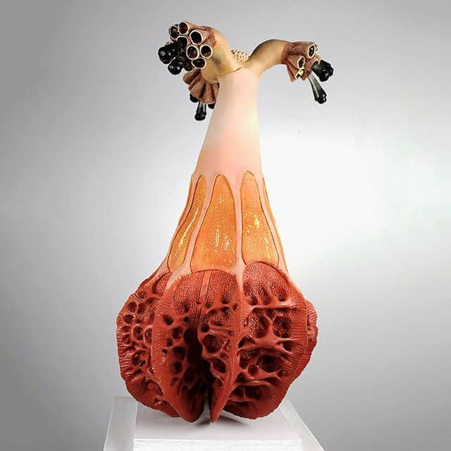 sara catapanos biomorphic ceramic sculptures 11