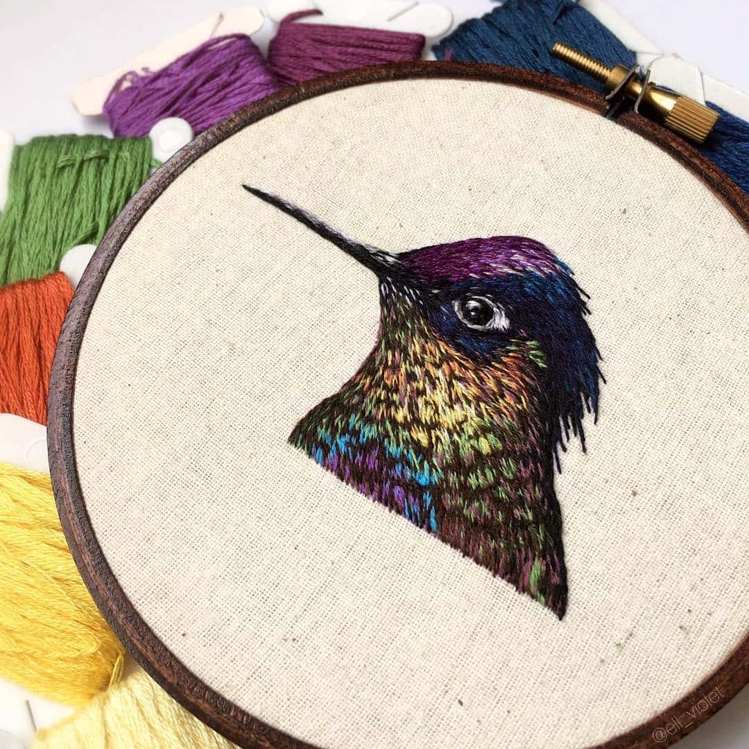 bird embroidery ell violet 5