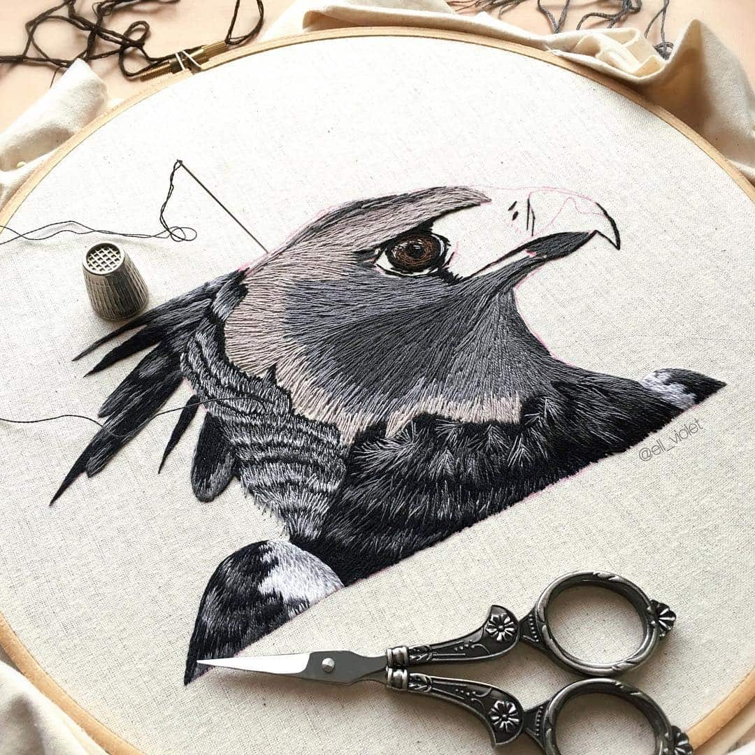 bird embroidery ell violet 6