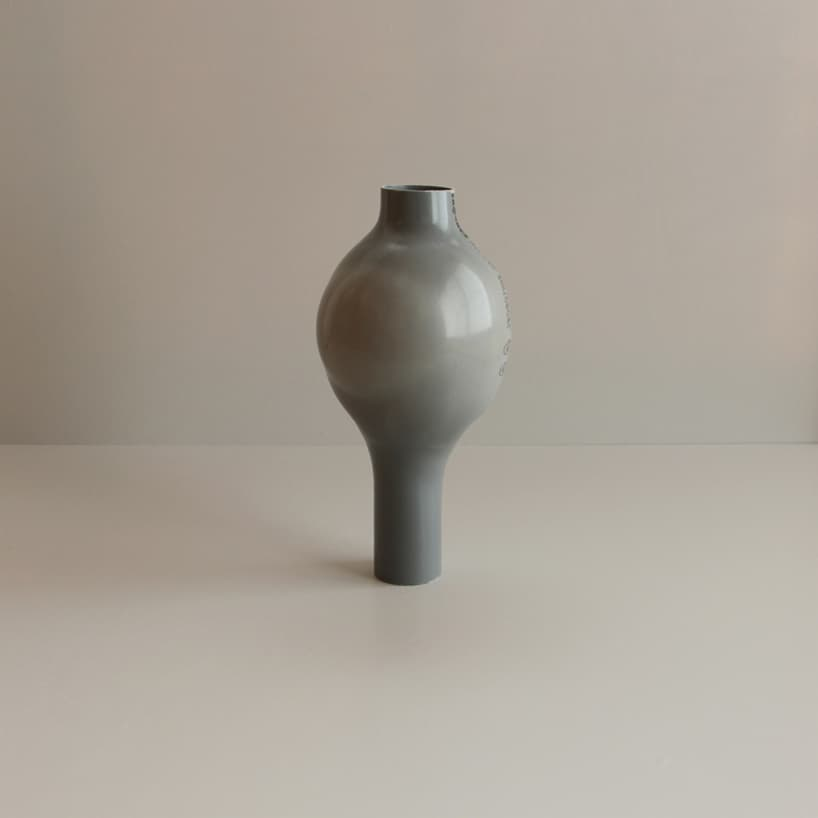 plastic pipes water hand blown vases 1