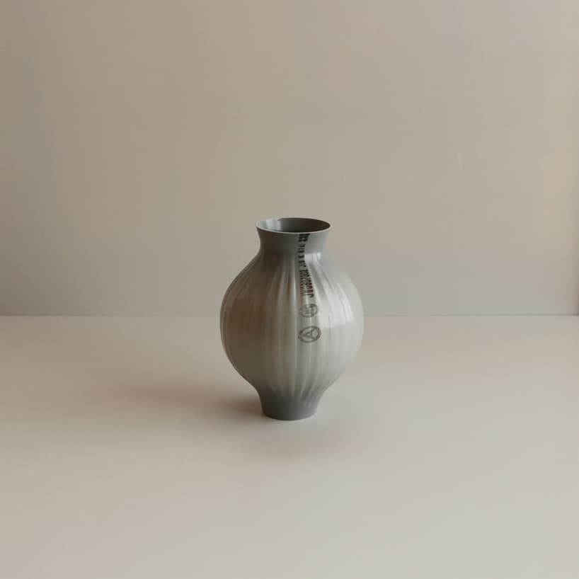 plastic pipes water hand blown vases 2