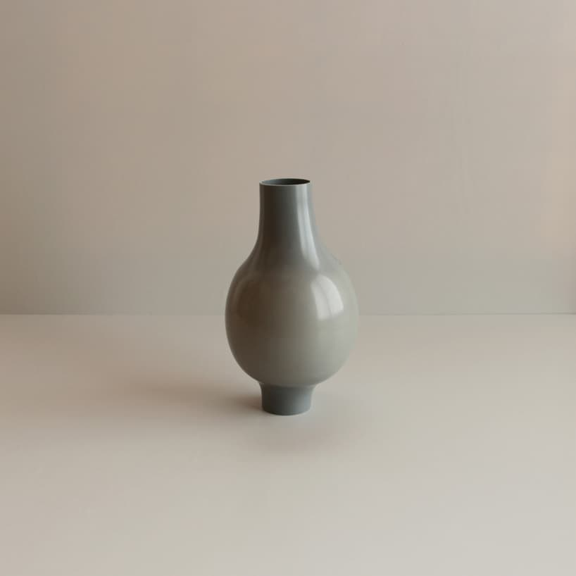plastic pipes water hand blown vases 3