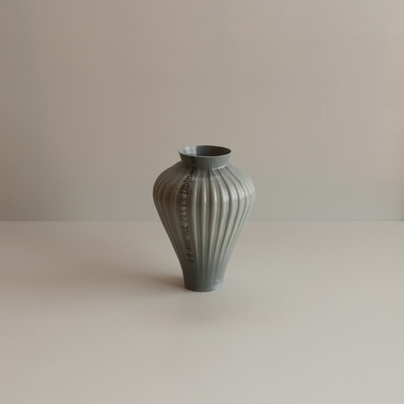 plastic pipes water hand blown vases 4