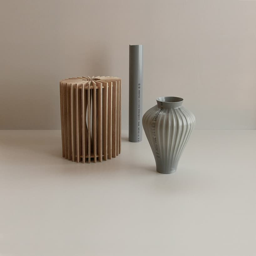 plastic pipes water hand blown vases 5
