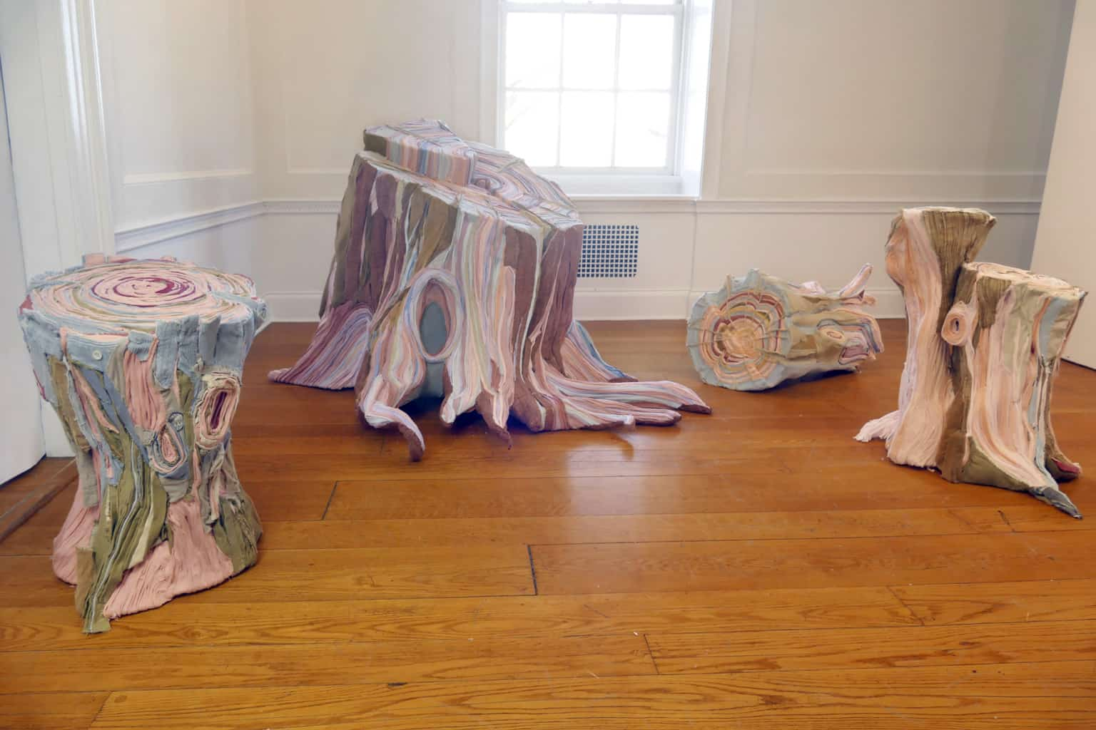 fabric tree stumps tamara kostianovsky 1