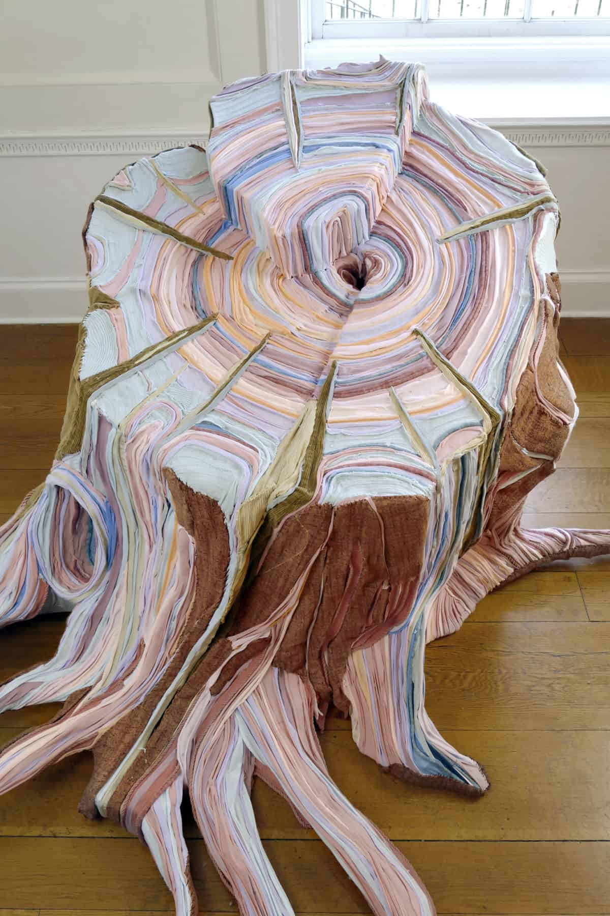 fabric tree stumps tamara kostianovsky 3