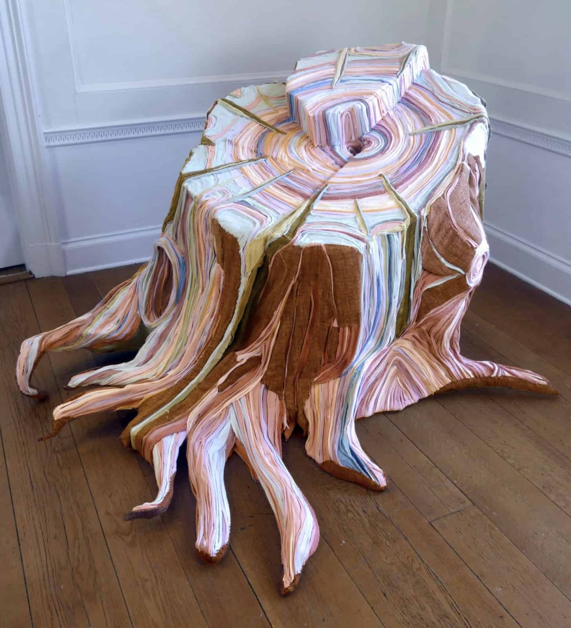 fabric tree stumps tamara kostianovsky 5