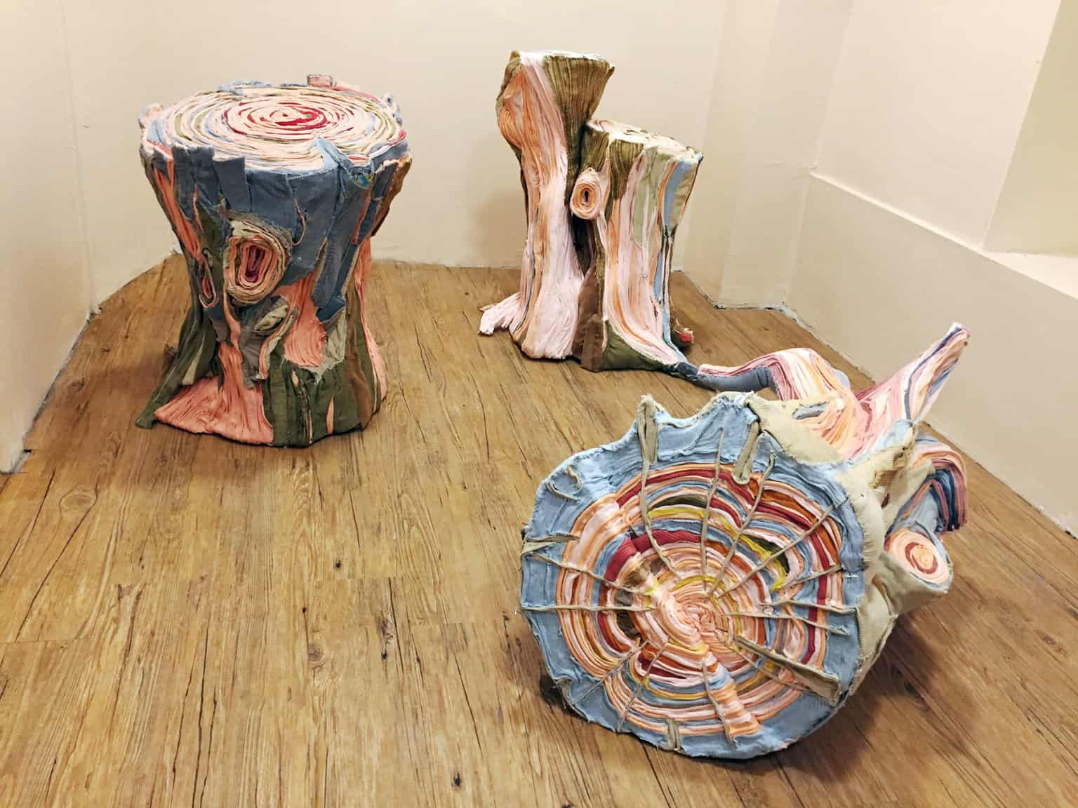 fabric tree stumps tamara kostianovsky 9