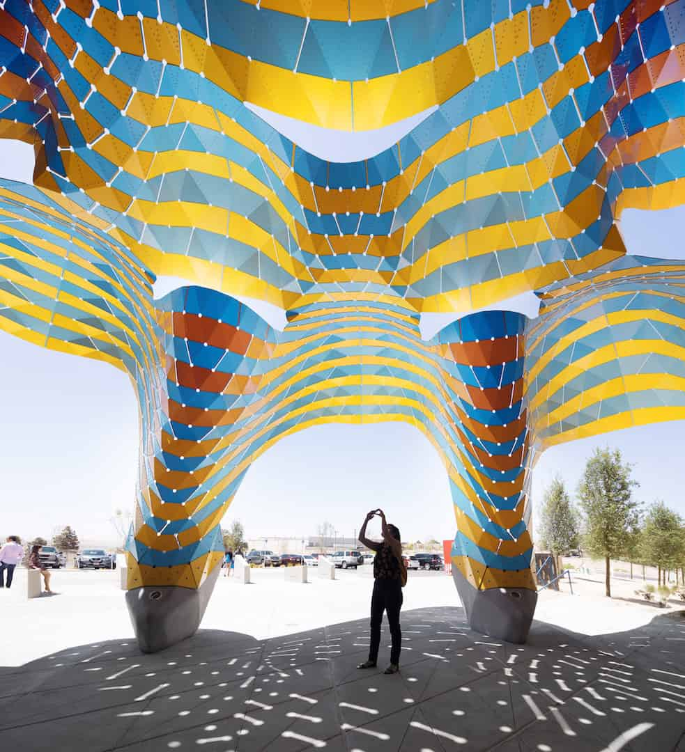 marquise colourful pavilion marc fornes 8