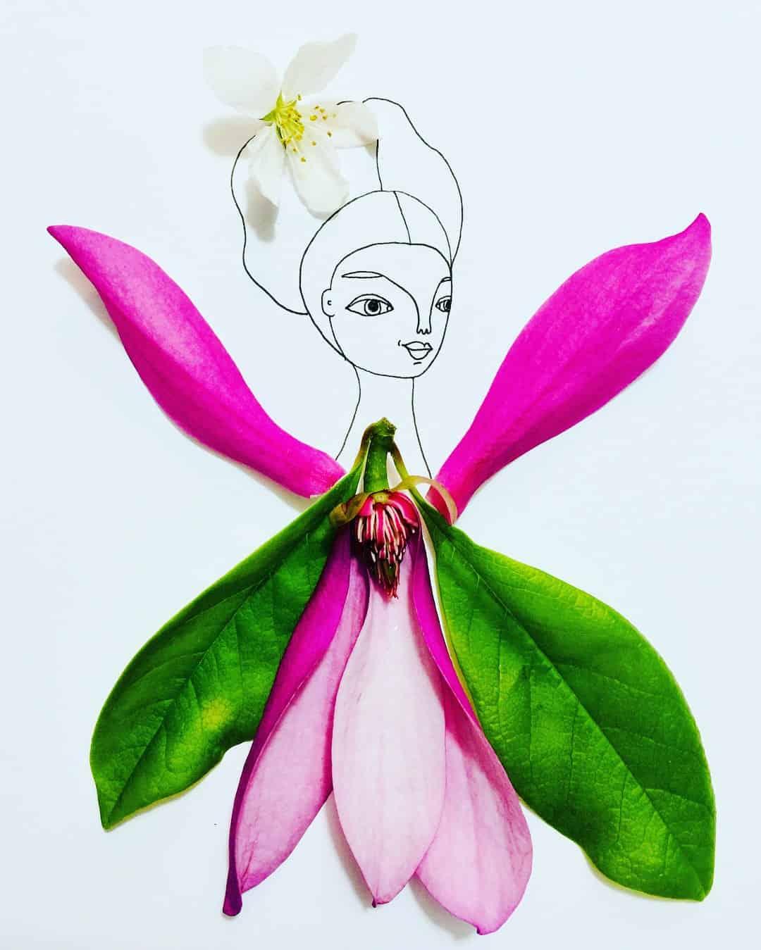 melissa flesher flower drawing 2