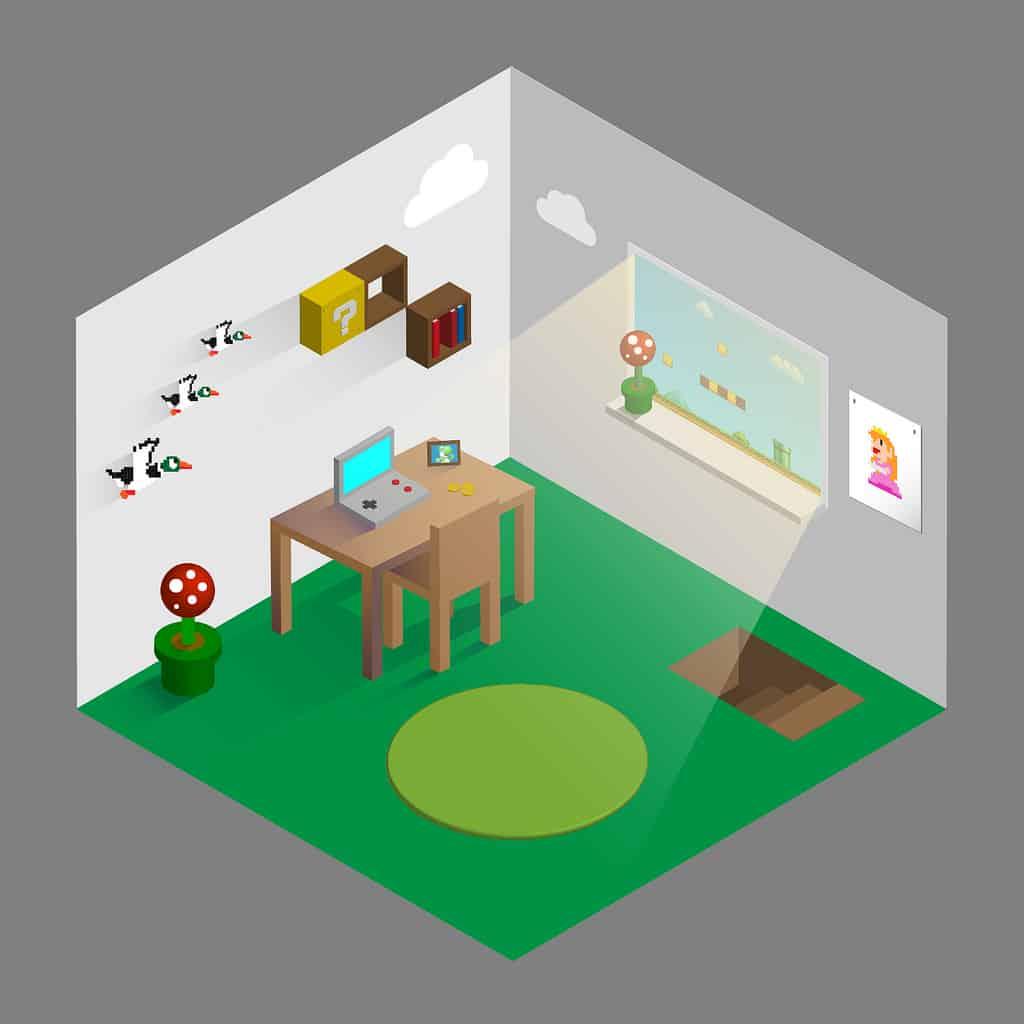 Nintendo-designed home office