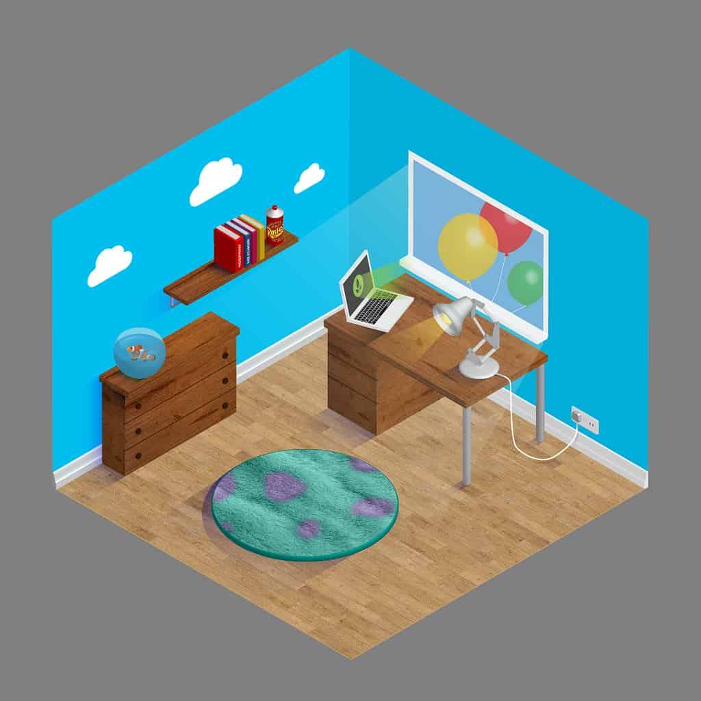 Pixar-themed home office ideas