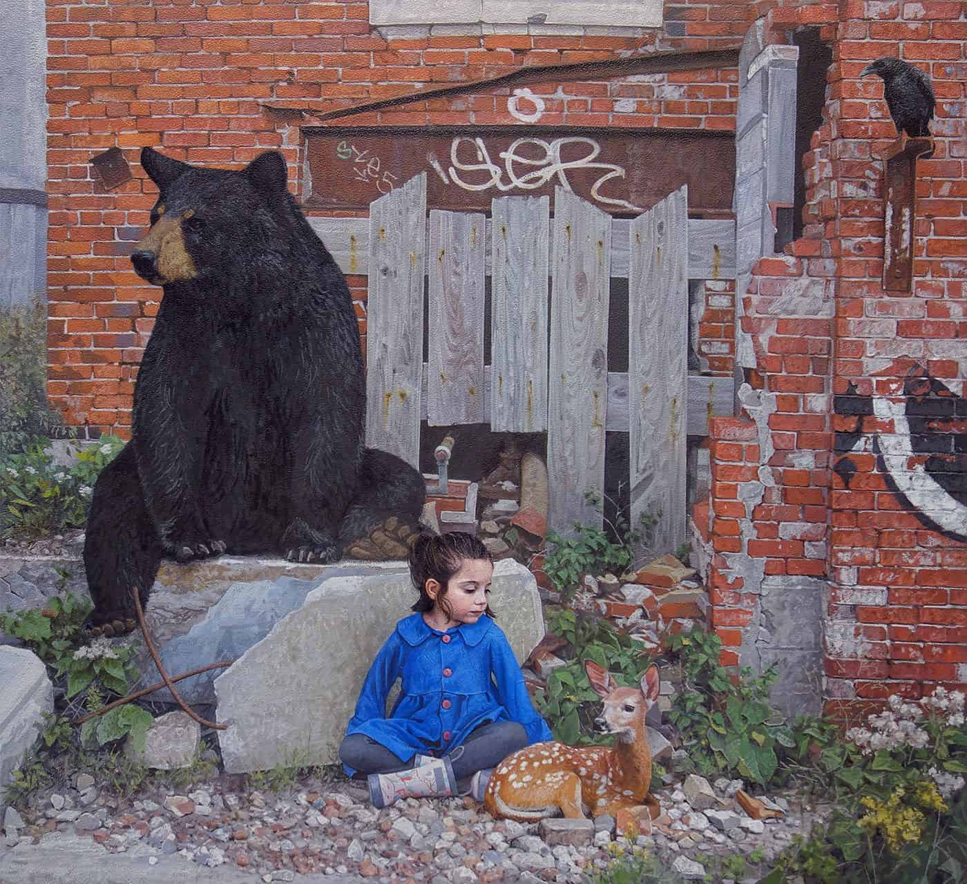 children wildlife paintings kevin peterson 1