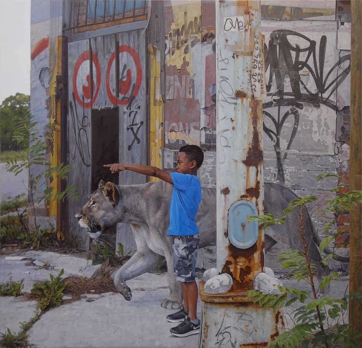 children wildlife paintings kevin peterson 2