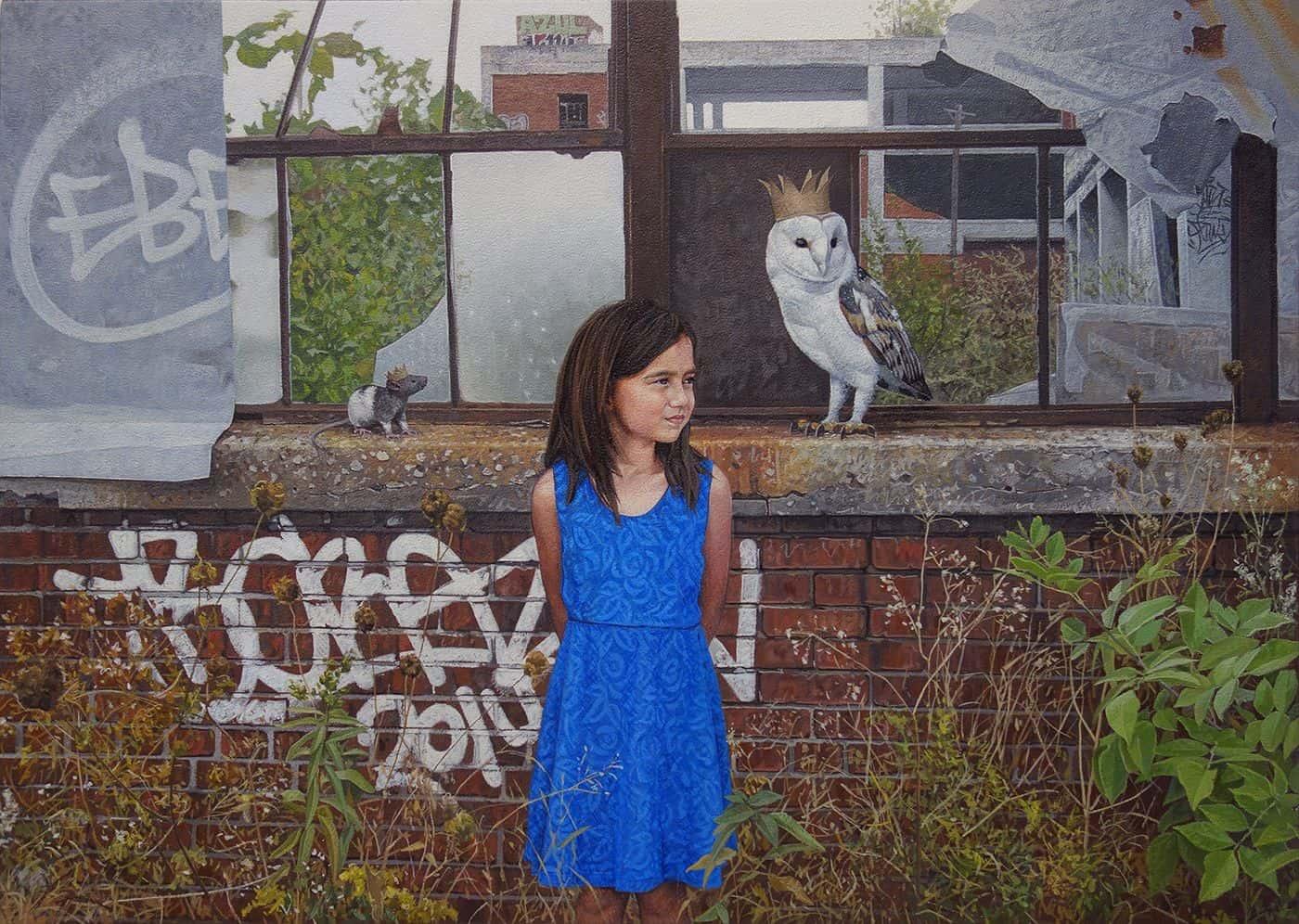 children wildlife paintings kevin peterson 3