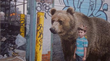 children wildlife paintings kevin peterson 5