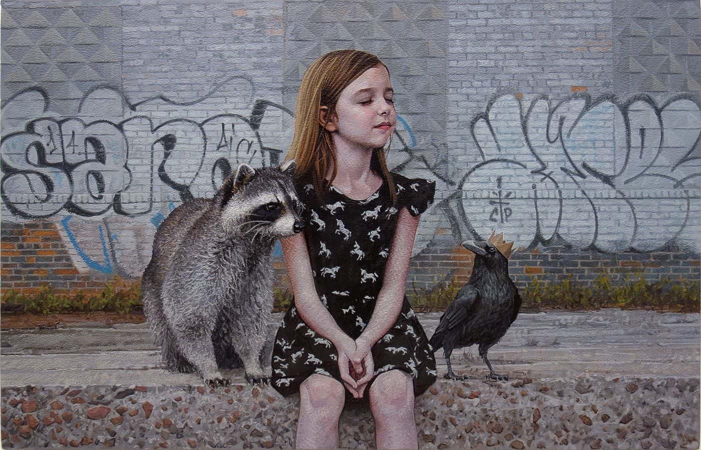 children wildlife paintings kevin peterson 6