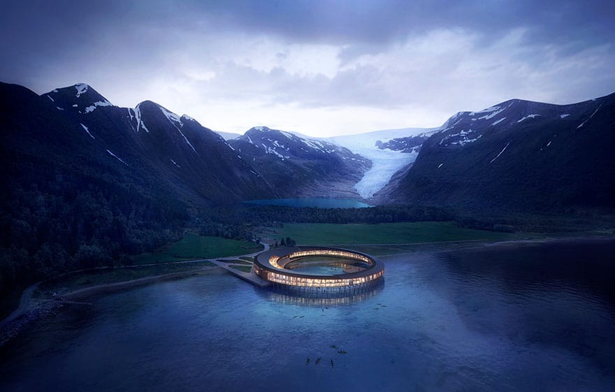 norway sustainable svart hotel snohetta 1