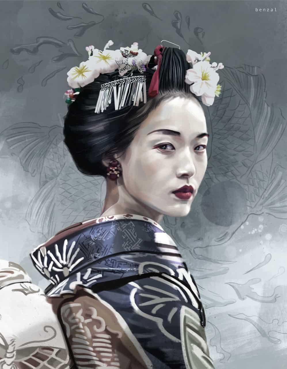 large Geisha David Benzal