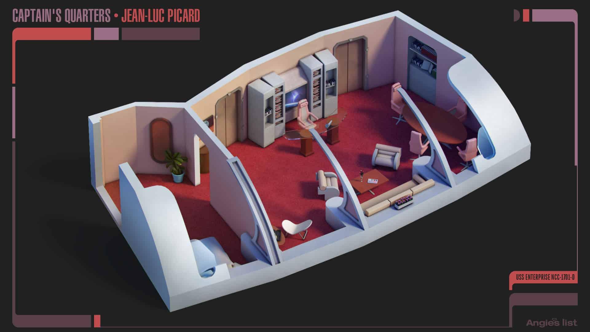 2 Jean Luc Picard quarters