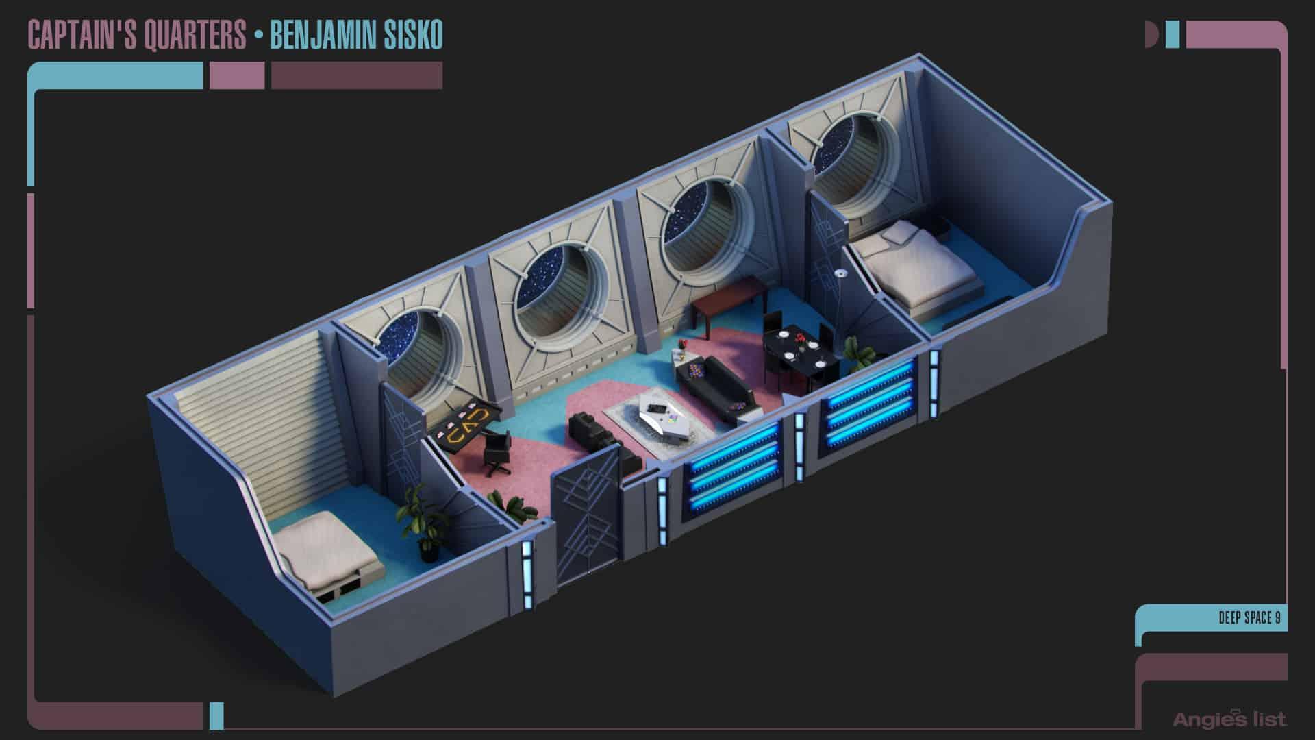 3 Benjamin Sisko quarters