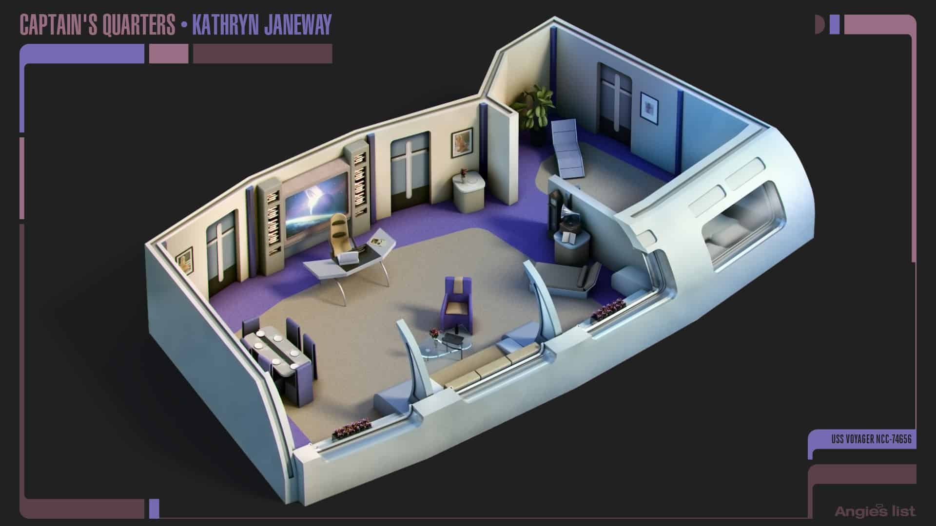 4 Kathryn Janeway quarters