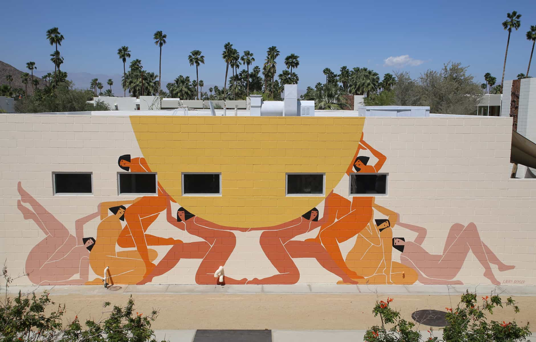 Ace hotel palm springs mural