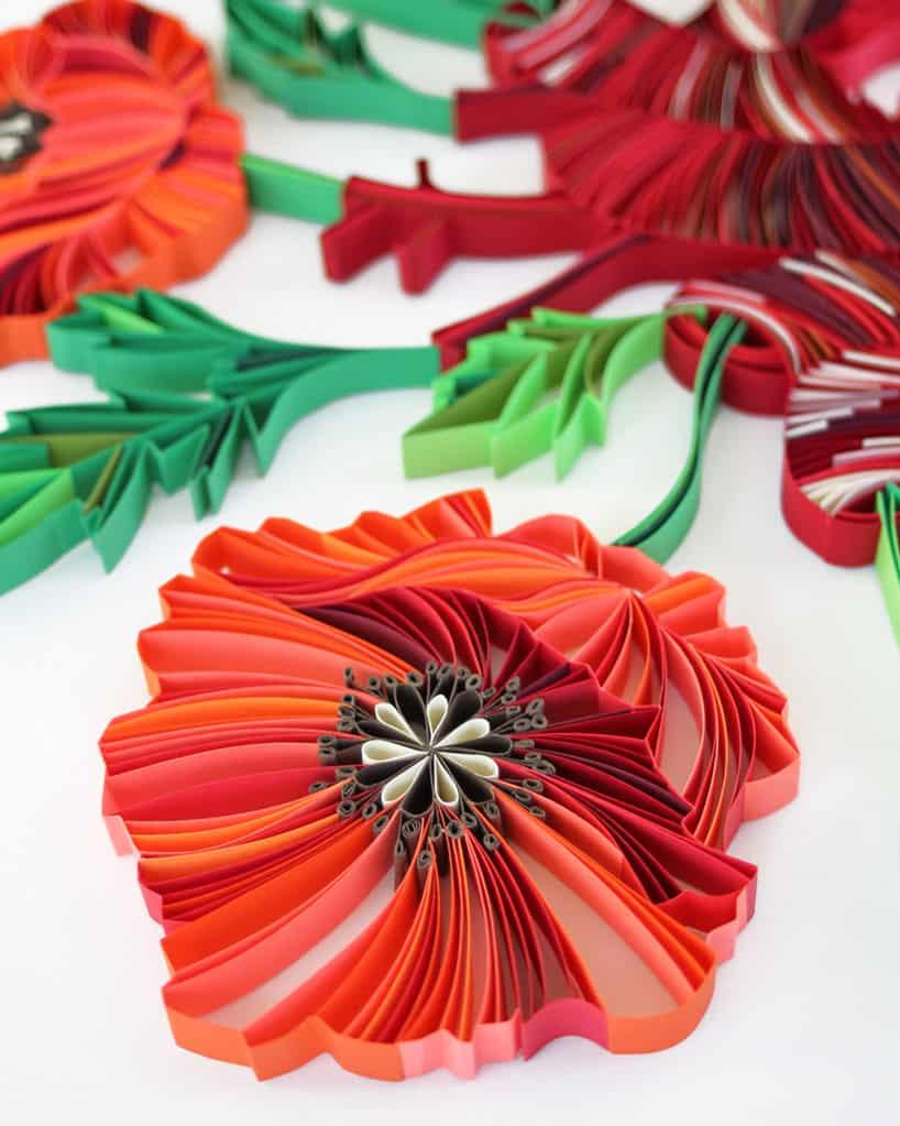 judith rolfe paper quilled floral art designboom 8 1
