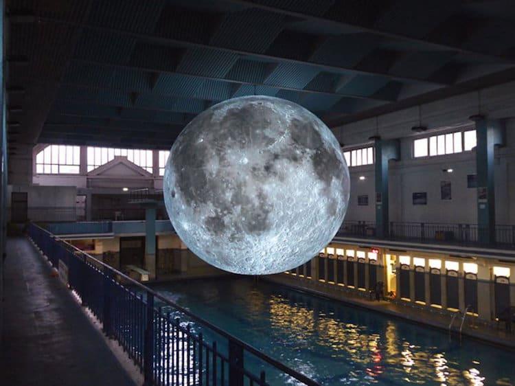 museum of the moon installation art luke jerram 1