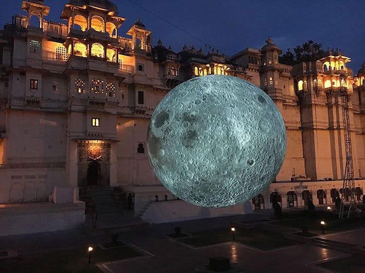 museum of the moon installation art luke jerram 2